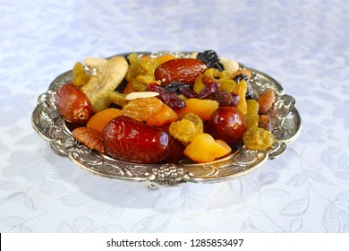Dried fruits, nuts - symbols of the Jewish holiday Tu Bishvat. Dried fruits and nuts of Israel