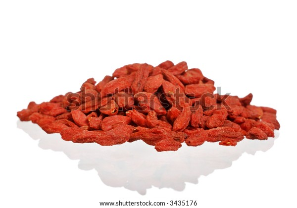 Dried Goji berries, high in antioxidants.A natural source of vitamin A , B , C and iron.