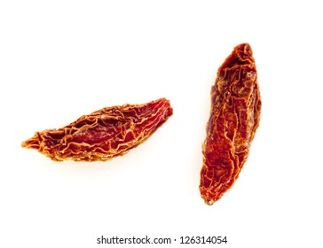 Dried goji berries isolated on white background
