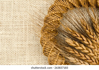 dried grass and barley craft