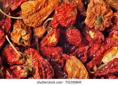 dried habanero Chili