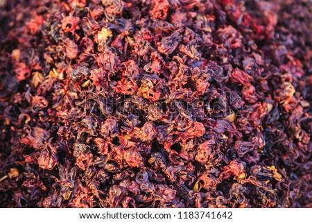 Dried Hibiscus Flowers Karkade Tea Stock Photo Edit Now 1183741642
