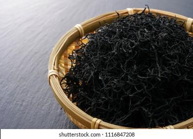Dried Hijiki Seaweed.