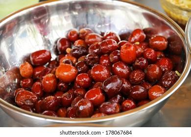 dried jujube for dessert ingredient