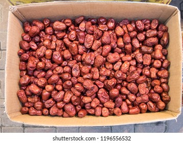 Dried Jujube, Dry Chinese date. Chinese date link or Jujube link is dessert and tradition chinese medicine.