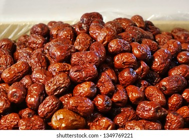 Dried Jujube fruits for sale at an outdoor market