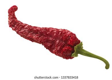 Dried Kashmiri Mirch pepper, whole pod