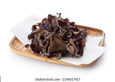 Dried Kikurage (wood ear mushroom, Jew's ear mushroom, fungus)