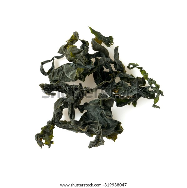 dried laminaria isolated on white