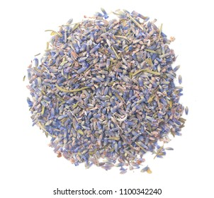 Dried Lavender on a White Background