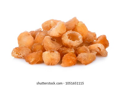 dried longan isolated on white background