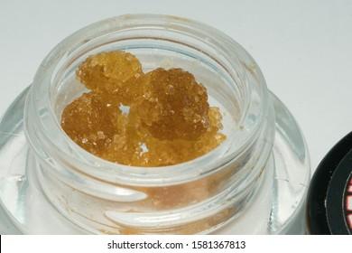 Dried Medical Cannabis Flower, Macro Photo