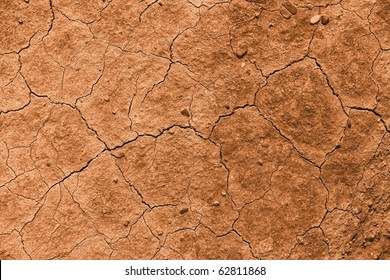 Dried out brown soil