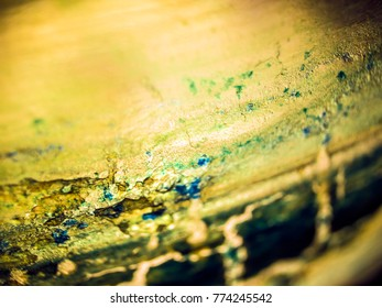 dried paint on glass