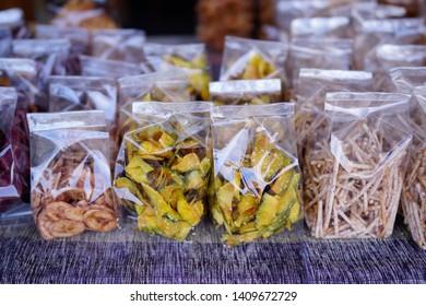 Dried pastries, OTOP Thai snacks.