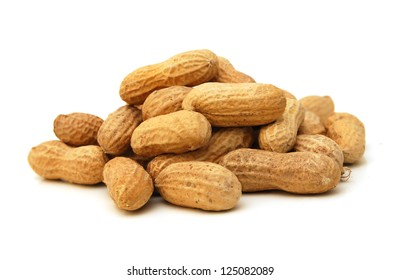 Dried peanuts in closeup