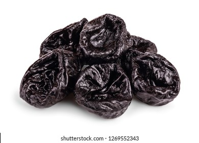 Dried plum - prunes isolated on a white background