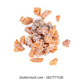 Dried plums isolated on white background