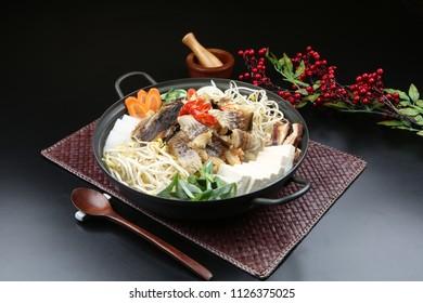 Dried Pollack Hot Pot