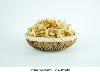 Dried Pollack object, Dried Pollack isolated on white background