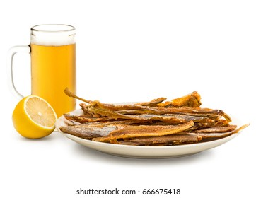 Dried purified pollock  as a snack for beer
