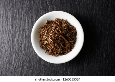 Dried roasted green tea leaves, Japanese tea, Houji tea,
