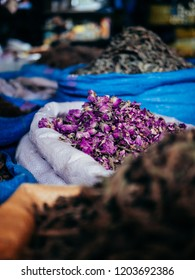 Dried Rosebuds on a market in Marrakech, Morocco