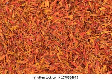Dried safflower background