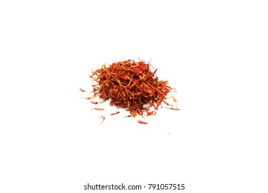 Dried safflower isolated on white background