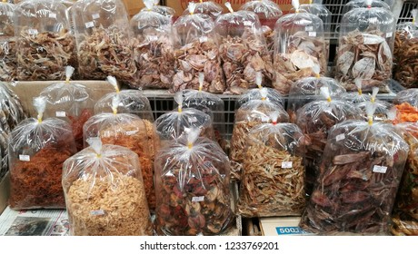 Dried Seafood in Mai Market, Chonburi Thailand