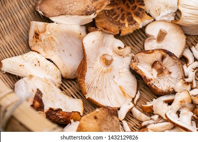 Dried shiitake mushrooms are made from smoked fresh shiitake mushrooms, and they have an intense smoky flavor and a meaty texture.