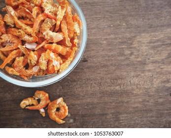 Dried  shrimp Asian food