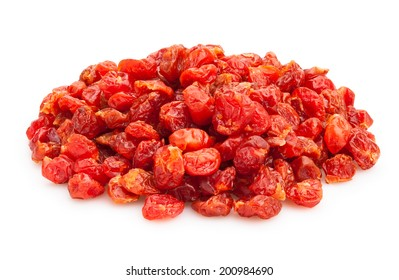 dried sour cherry isolated