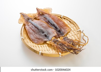 Dried squid is seafood product, made from Japanese flying squid.