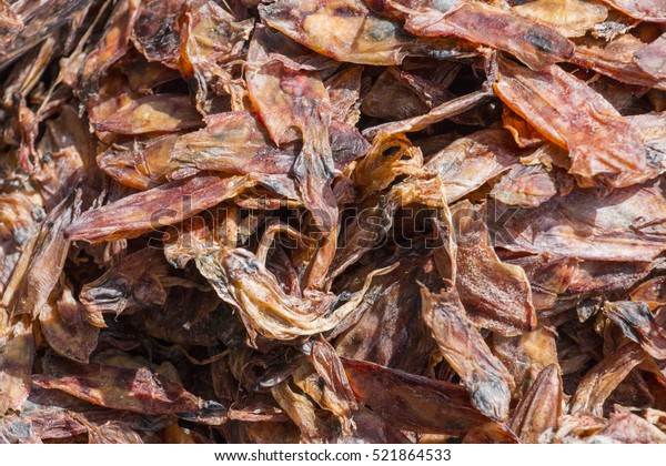 Dried Squid Used Quite Commonly Cooking Stock Photo (Edit Now) 521864533