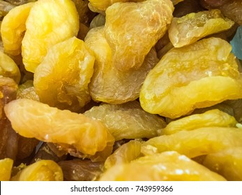 Dried sweet fruit apricots close-up, background