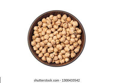 Dried White chickpeas, White Chana, Dried Chickpea Lentils, Raw lentil, Pakistani/Indian beans isolated on white Background