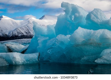 Drift ice and ice bergs in Svalbard in the arctic, close to the North Pole.