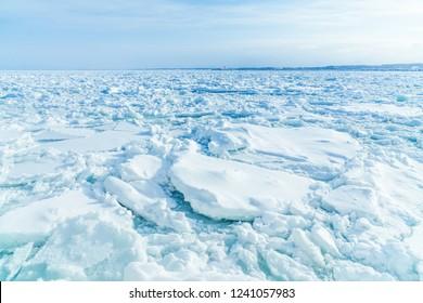 Drift ice wathcing on the icebreaker Aurora, Abashiri, Hokkaido, Japan, Winter