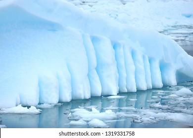 Drifting icebergs in Antarctica.