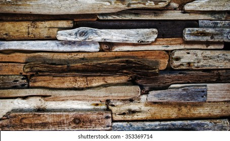 Driftwood background texture.