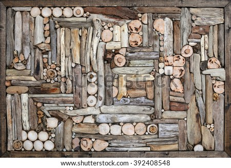Driftwood Wall Decoration Frame Stock Photo Edit Now 392408548
