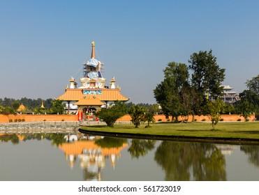 Drigung Kagyud Dharmaraja Foundation, Buddhist temple, Lumbini Nepal