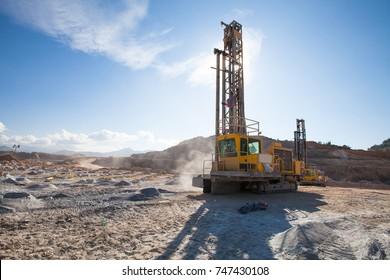 Drill blast rig