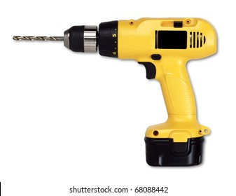 Drill isolated on white with a clipping path