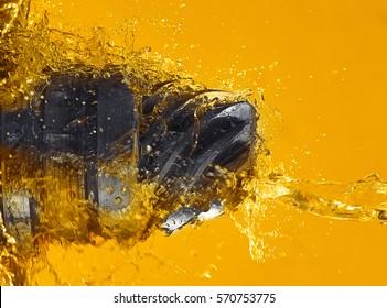 Drill splash