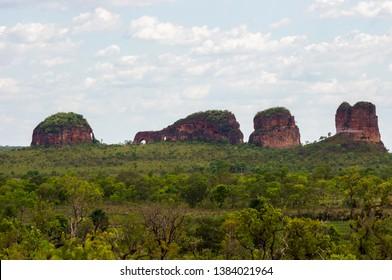 drilled stone, Pedra furada in Jalapão State Park ( Parque Estadual do jalapao ) - Tocantins, Brazil