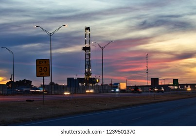 drilling along the Interstate in Midland Texas