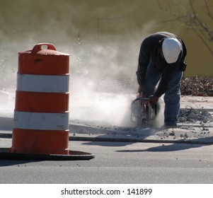 drilling the curb