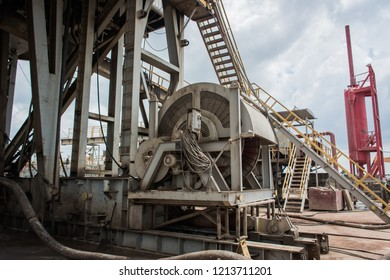 Drilling drum in oil and gas rig.